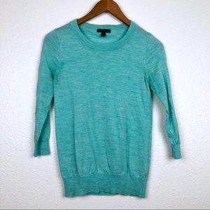J. Crew turquoise merino wool sweater XS